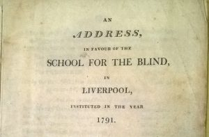 An address in favour of the School for the Blind in Liverpool