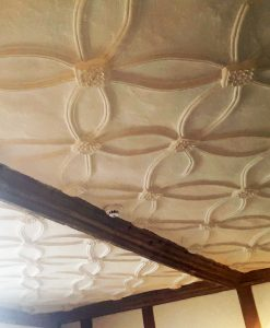 petal shapes in the plaster ceiling
