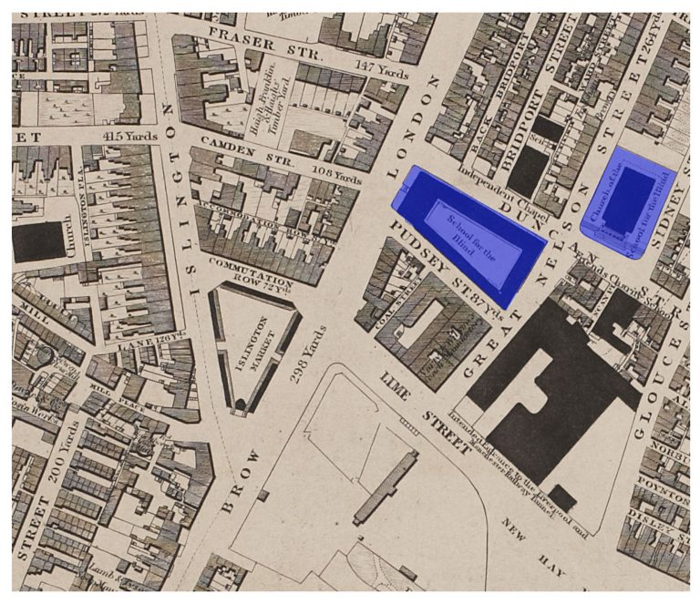 1835 Liverpool map