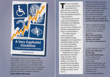 Flyer for Roddy Slorach's book A Very Capitalist Condition