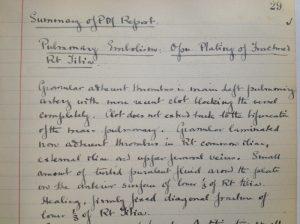 G B Bartlett handwritten pathological report