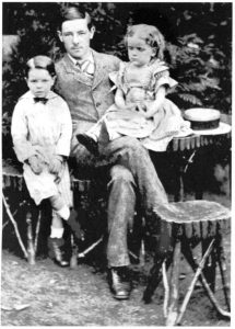 Charles Molesworth Tuke 1857-1925 with his youngest brother and sister