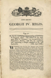 First page of the Act with 'the tenth year of George IV written in Latin at the top