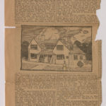 Yellowing newspaper article