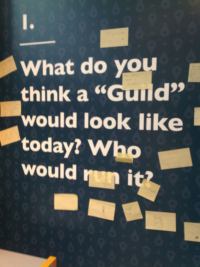 Text banner says what do you think a guild would look like today? Who would run it?