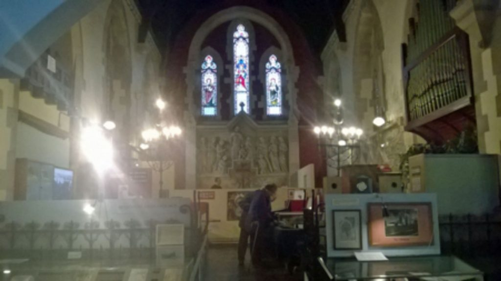 church like interior of Glenside Museum