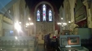 church like interior of Glenside Museum