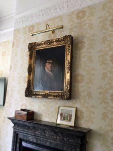 portrait of Edward Rushton above fireplace