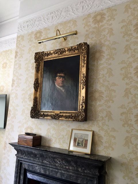portrait of Edward Rushton above fireplace