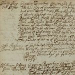 An extract of writing about medieval almshouses from the Canterbury archives