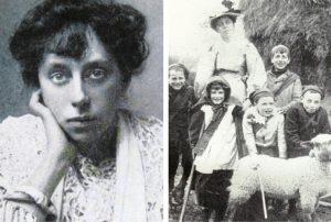 Image shows ada vachell with Bristol children from the Guild