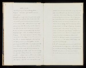 Dr Charles Tuke's flowing handwriting