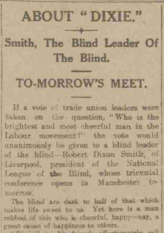 a newspaper article about Robert Dixie Smith
