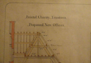image shows architectural plan for the top of a roof