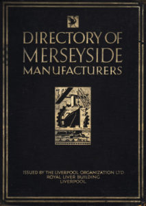 image shows book cover with drawing representing industry including a boat and a giant cog