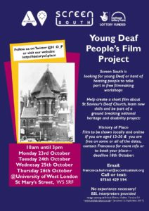 Young deaf people's film project