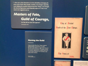 Exhibition shot, with the rejected suggestion that the Guild should rename itself 'masters of fate'